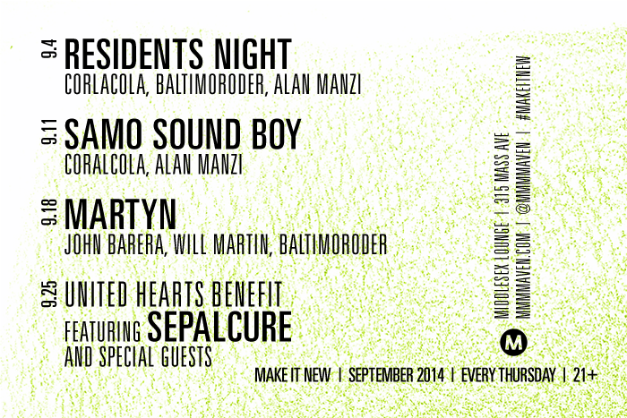 September Make it New flyer design by JSGD