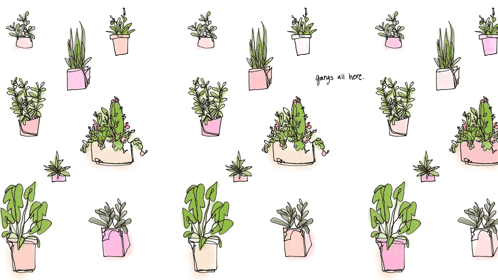 Emma's Greenery - Wallpaper