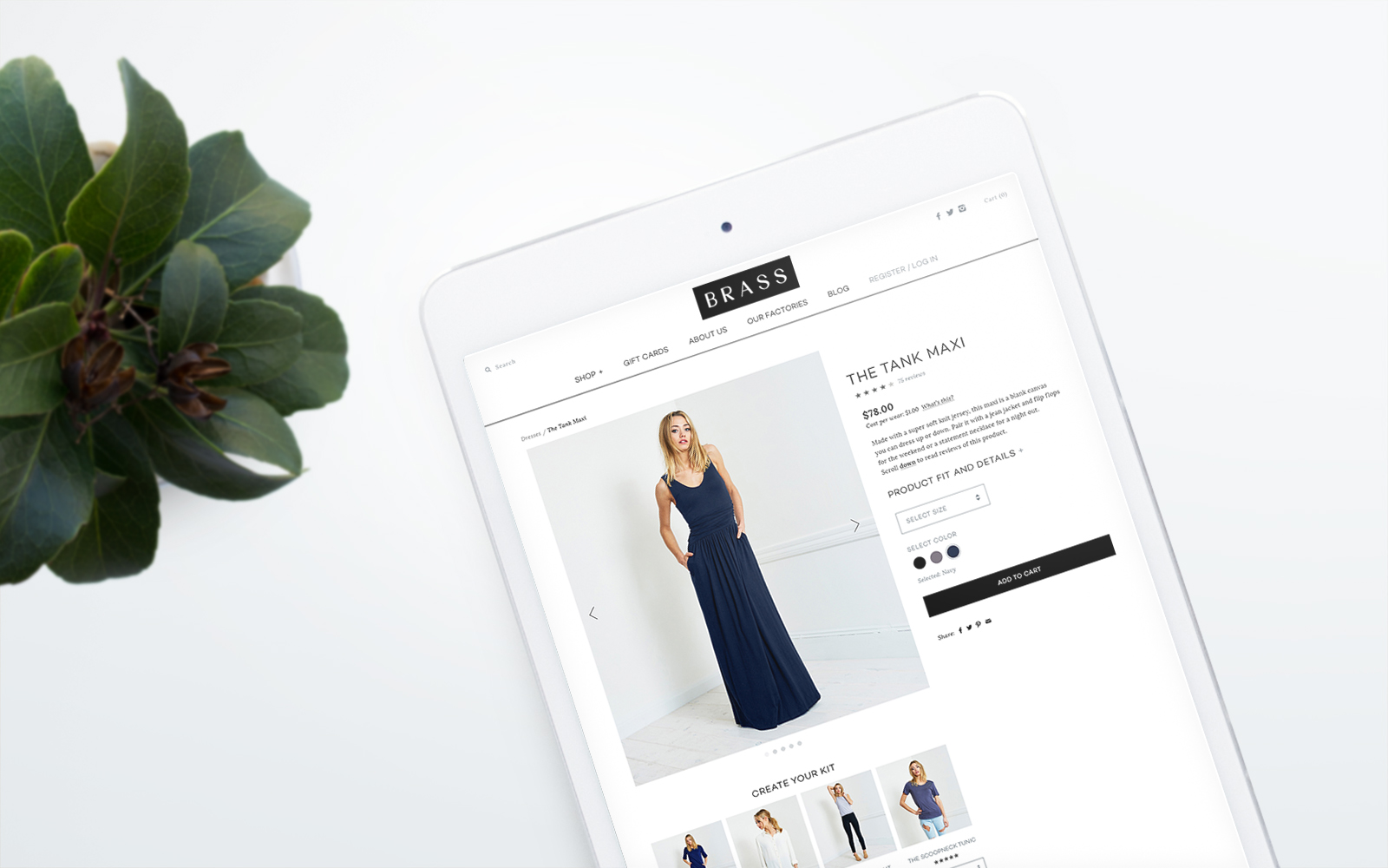 Brass Clothing Ecommerce Web Design by JSGD