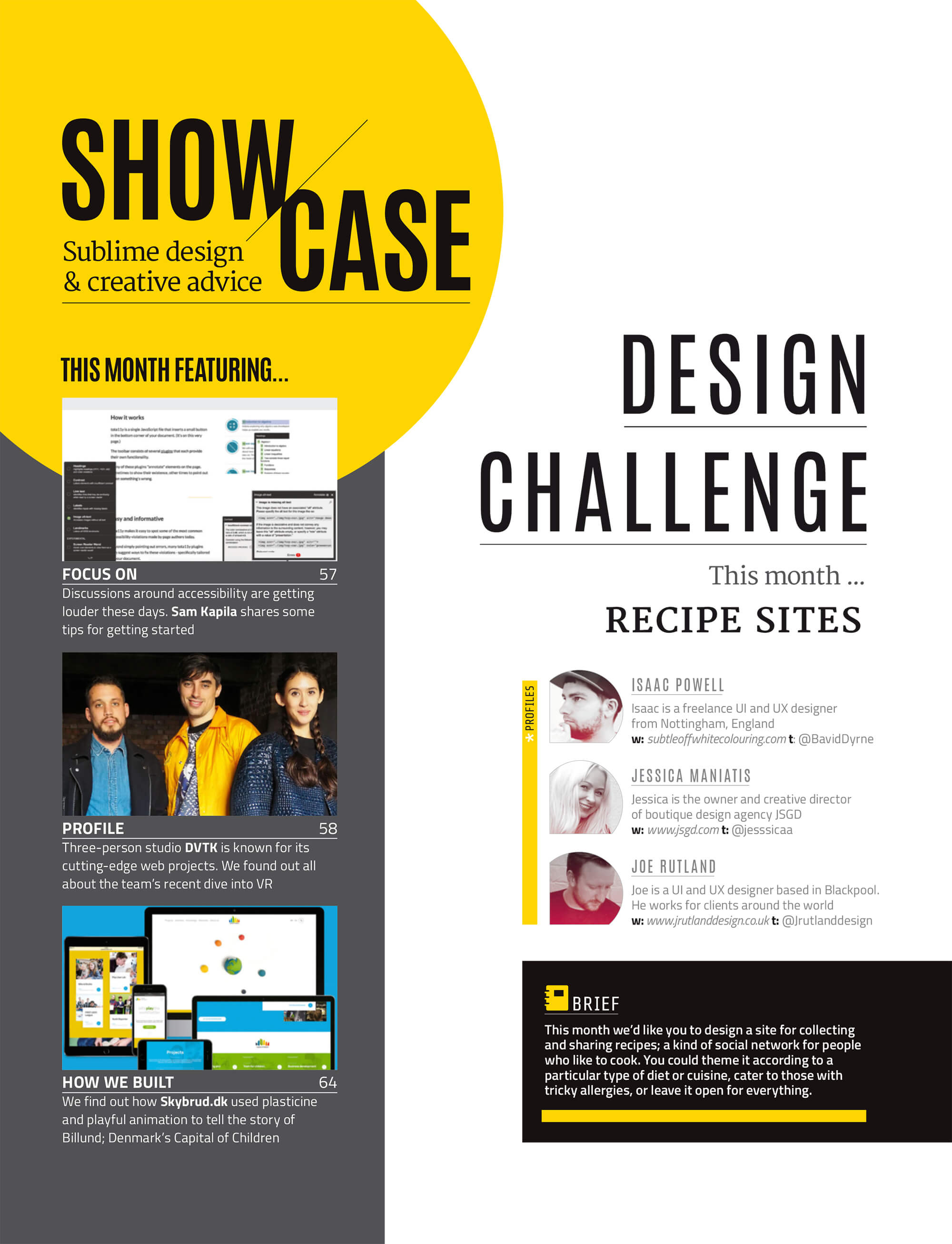 JSGD in Net Magazine's Design Challenge – Feb 2017