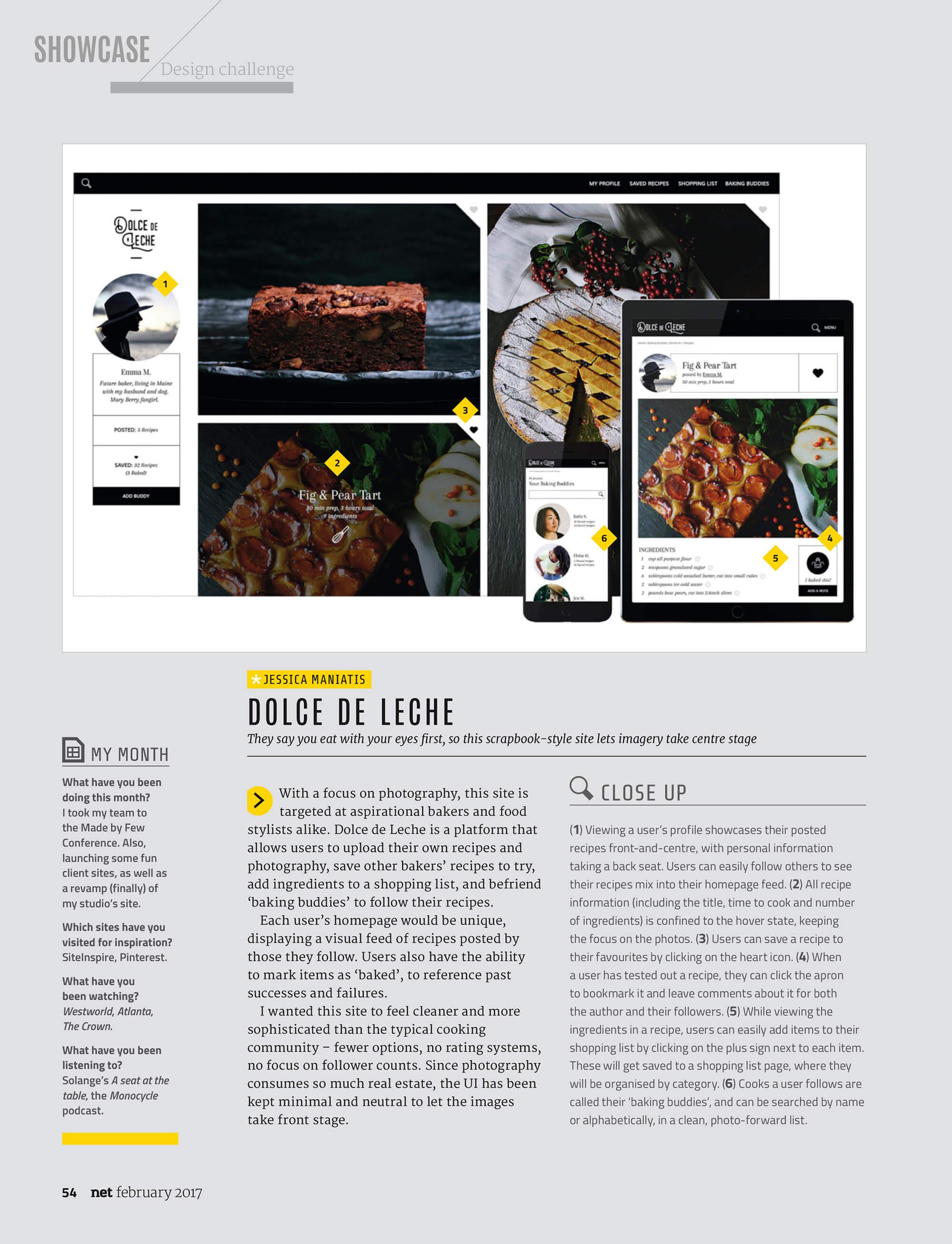 JSGD in Net Magazine's Design Challenge –Feb 2017
