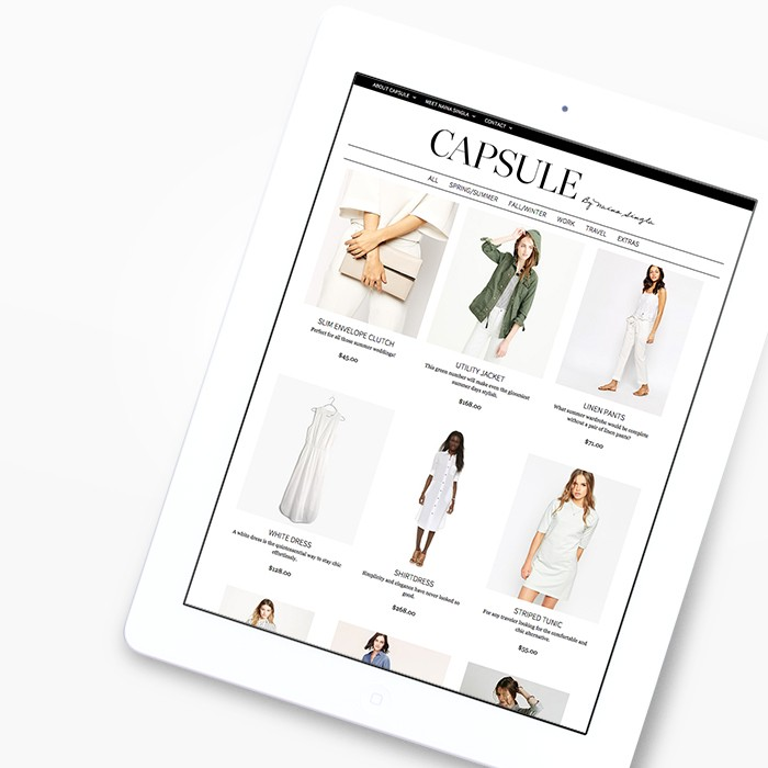 Capsule web design by JSGD
