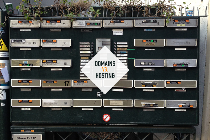 domains vs hosting by jsgd