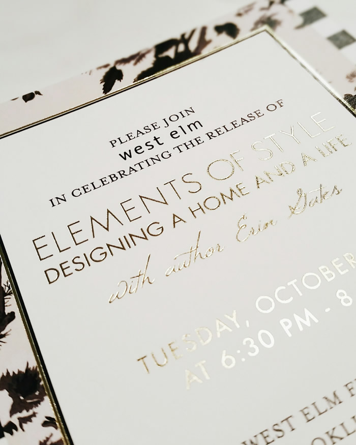 Elements of Style book laundg invitation designed by JSGD #eosthebook