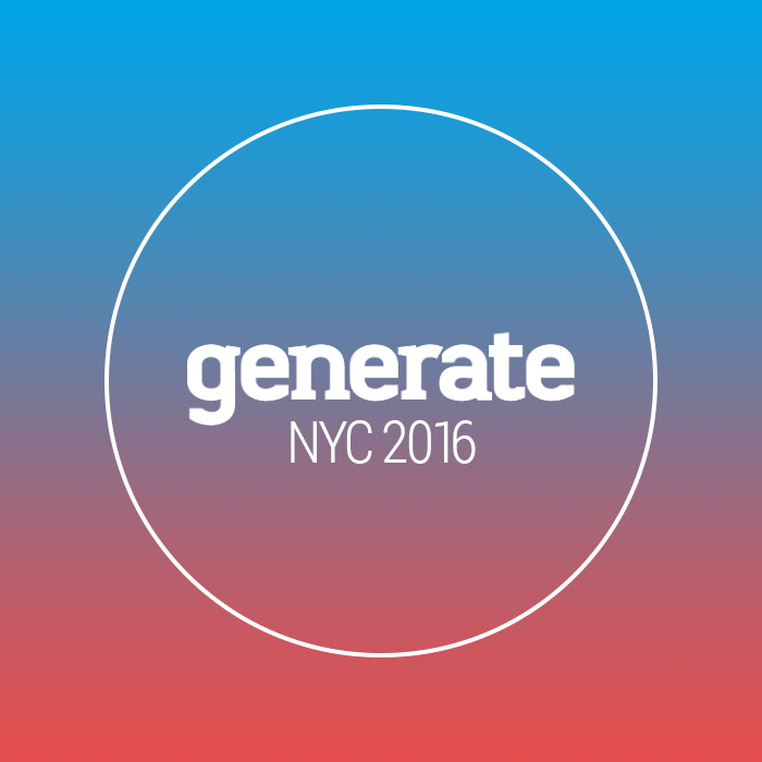 Generate Conference NYC 2016