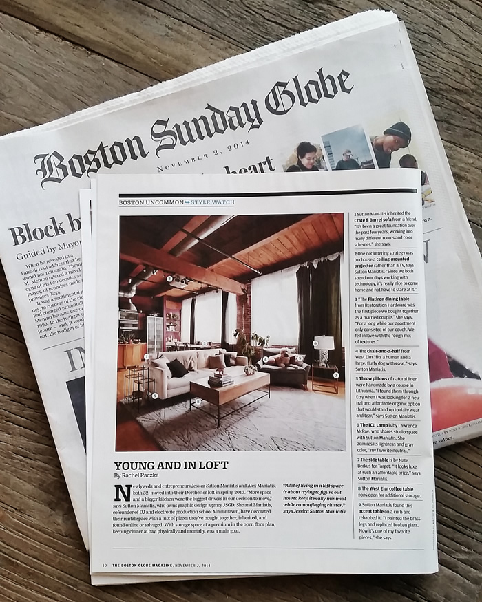 jessica maniatis of jsgd's loft in the boston globe